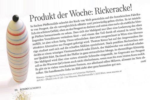 Presseartikel WauWau Pfeffermühlen