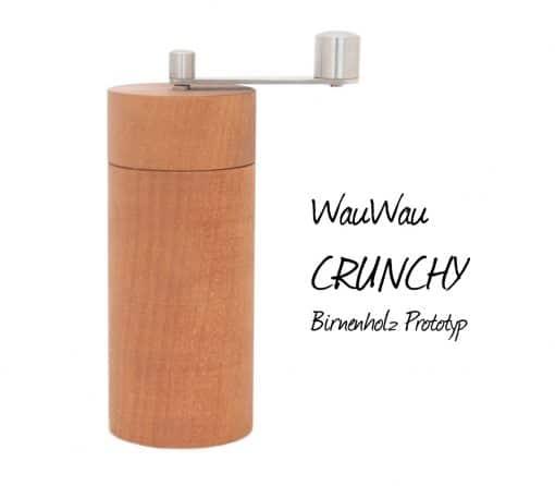 WauWau Pfeffermühle Crunchy Birnenholz Prototyp
