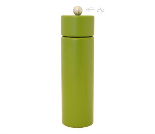 WauWau Pfeffermühle Jumsy farbgrün kugel alu