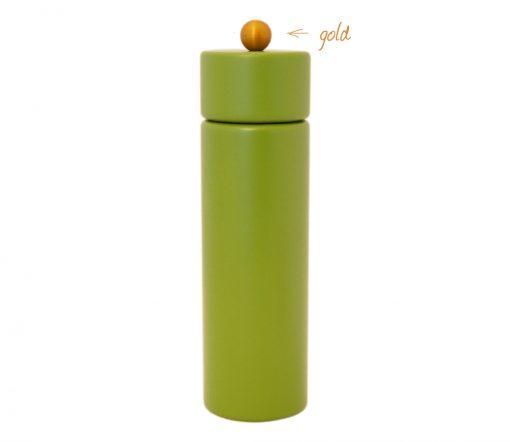 WauWau Pfeffermühle Jumsy farbgrün kugel gold