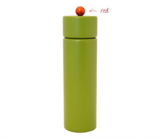 WauWau Pfeffermühle Jumsy farbgrün kugel rot