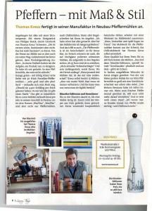 "wauwau Pfeffermühlen im Magazin ""Luxury Things"" 2016"