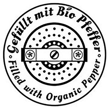 WauWau Pfeffermühlen gefüllt mit Bio Pfeffer